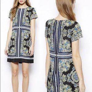 Oasis Scarf Print Shift Dress